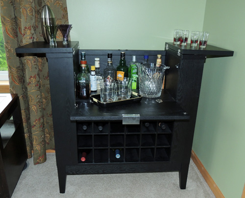 This Functional Spirits Cabinet Is From Crate U0026 Barrell. Itu0027s The Parker  Spirits Cabinet, And I Love How Unobtrusive And Compact It Is When Itu0027s All  Closed ...