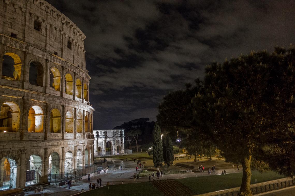 Colliseum at night