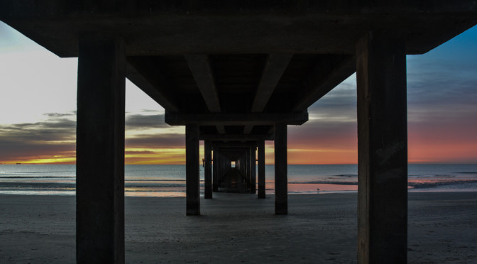 Sunrise 2-9 under pier